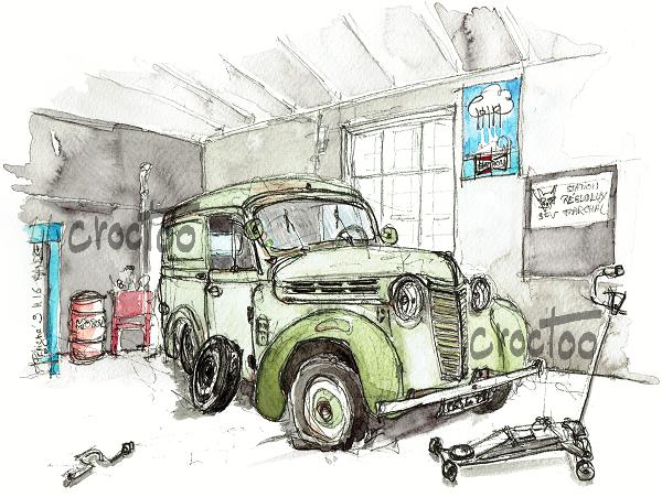 Une Juva 4 au garage de la Poste