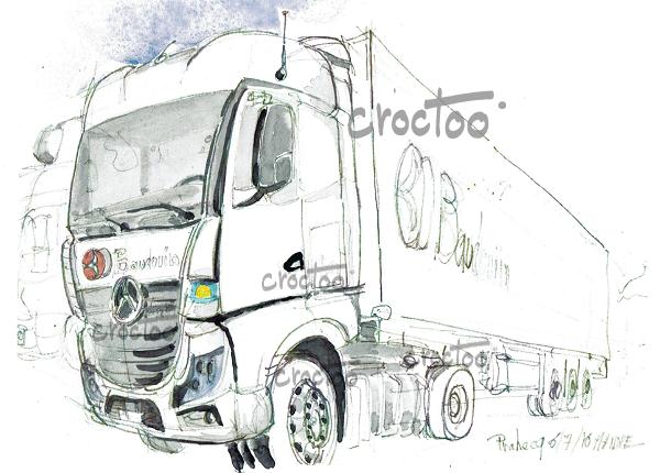 Le gros camion blanc