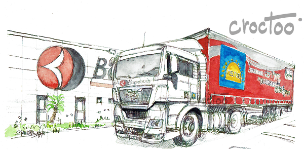 Le gros camion rouge
