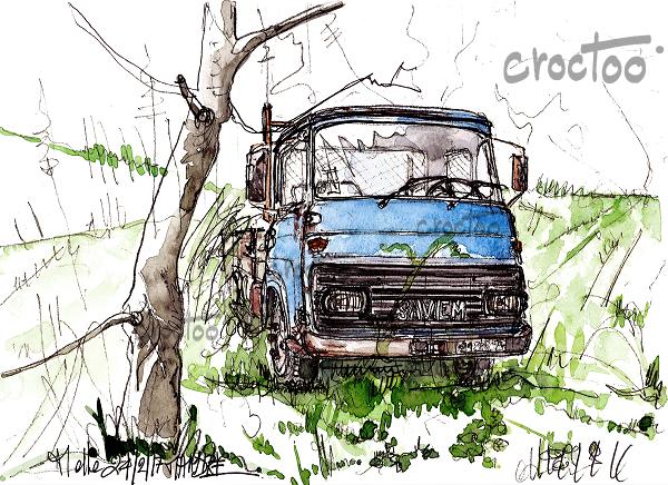 Le camion abandonné