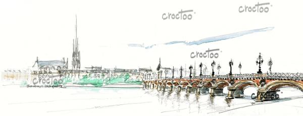 Le Pont de pierre, Bordeaux