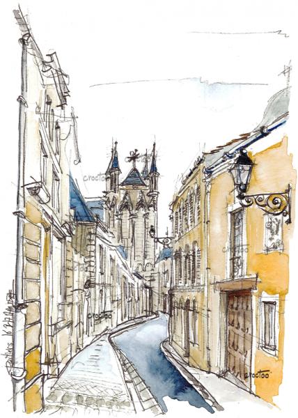 Rue de la Cathédrale, Poitiers